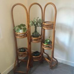 Porte-plantes rotin