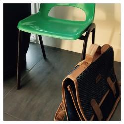 Chaise en plastique Verte
