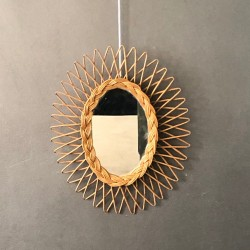 Miroir rotin oval